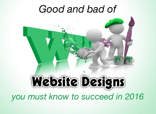 good and bad of website designs