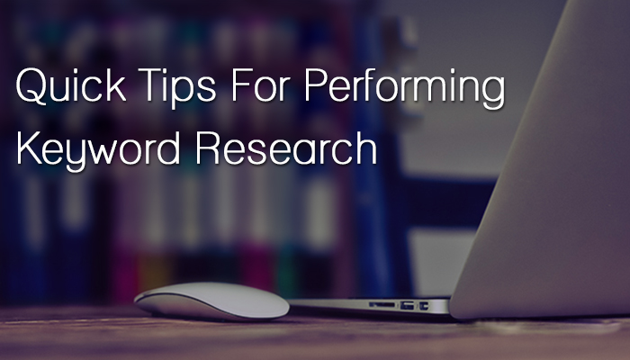 quick tips for performing keyword research