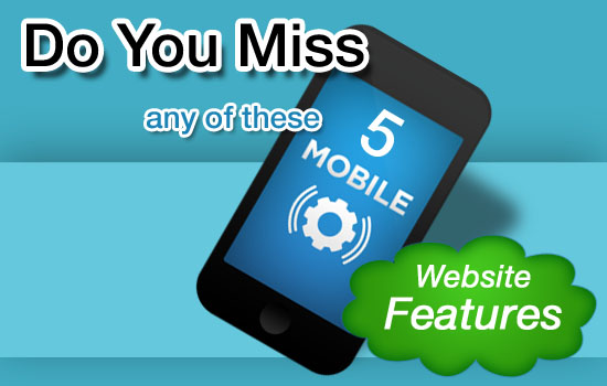 5 mobile website features